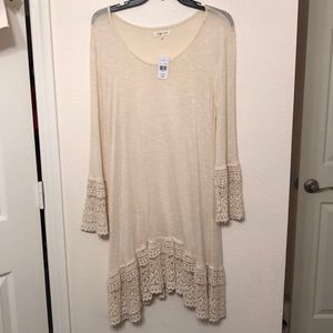Cream Dress with Lace